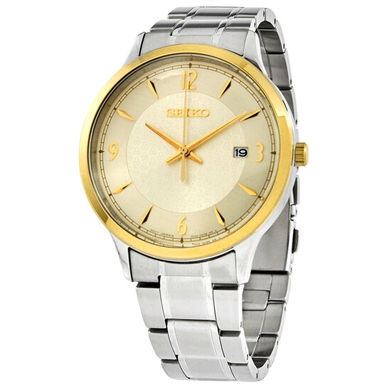 Seiko Essentials Quartz Champagne Dial Men's Watch SGEH92P1   Joma Shop