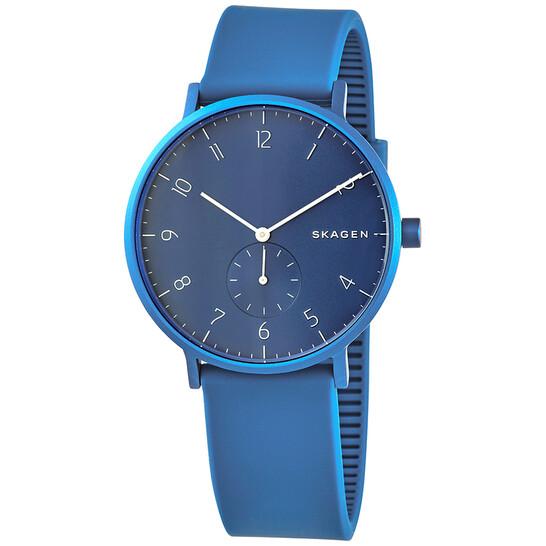 Skagen Aaren Kulor Aluminum Quartz Blue Dial Unisex Watch SKW6508 | Joma Shop