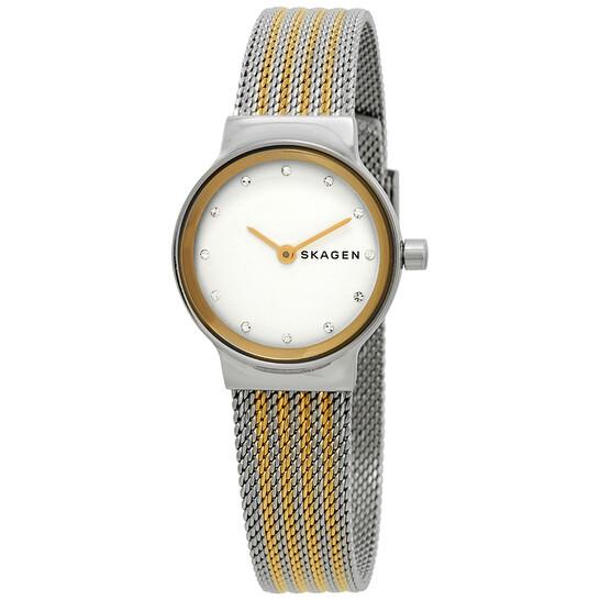 Skagen Freja Crystal White Dial Ladies Watch SKW2698 | Joma Shop