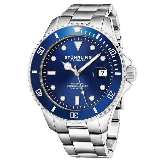 Stuhrling Original Aquadiver Automatic Blue Dial Men's Watch M13544   Joma Shop