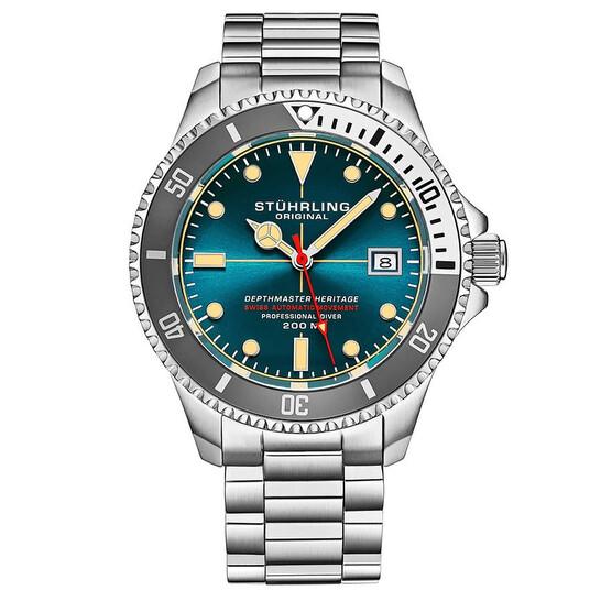Stuhrling Original Aquadiver Automatic Blue Dial Men's Watch M13520   Joma Shop