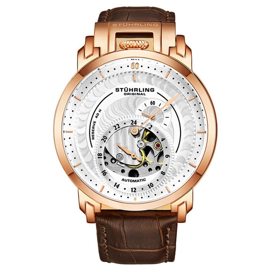Stuhrling Original Legacy Automatic Silver Dial Men's Watch M13498   Joma Shop