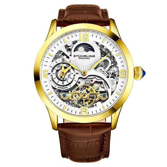 Stuhrling Original Legacy Automatic White Dial Men's Watch M13594   Joma Shop