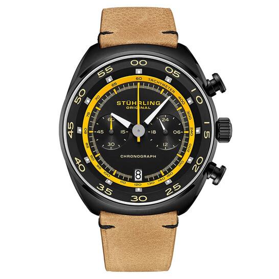 Stuhrling Original Monaco Quartz Black Dial Men's Watch M13553 | Joma Shop