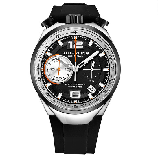 Stuhrling Original Monaco Quartz Black Dial Men's Watch M13539   Joma Shop