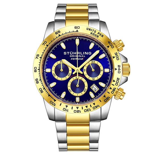Stuhrling Original Monaco Quartz Blue Dial Men's Watch M13548 | Joma Shop