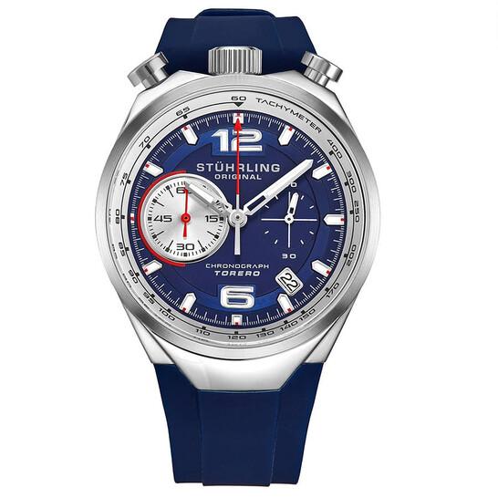 Stuhrling Original Monaco Quartz Blue Dial Men's Watch M13545 | Joma Shop