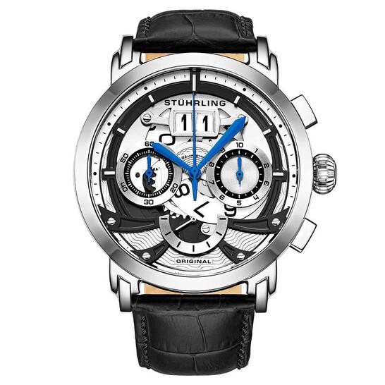 Stuhrling Original Monaco Quartz White Dial Men's Watch M13550   Joma Shop