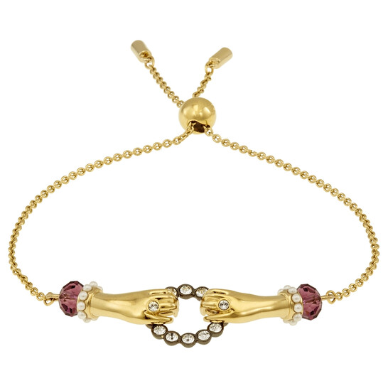 Swarovski Gold-tone Tarot Magic Bracelet- Size M