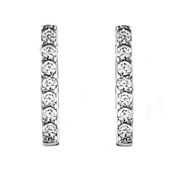 Swarovski Only Pierced Bar Earrings