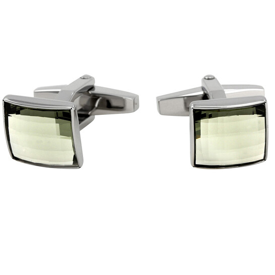 Swarovski Square Stainless Steel Cufflinks