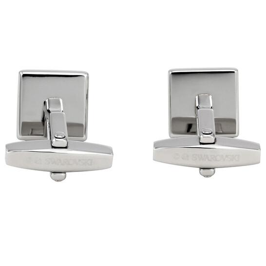 Abuelo pómulo Aire acondicionado  Swarovski Square Stainless Steel Cufflinks 5060553 - Jewelry, Mens Jewelry  - Jomashop