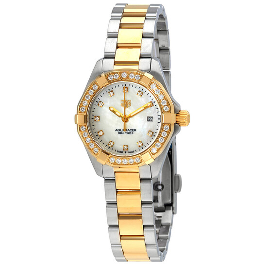 Tag Heuer Aquaracer Diamond White Mother of Pearl Dial Ladies Watch WBD1423.BB0321 | Joma Shop
