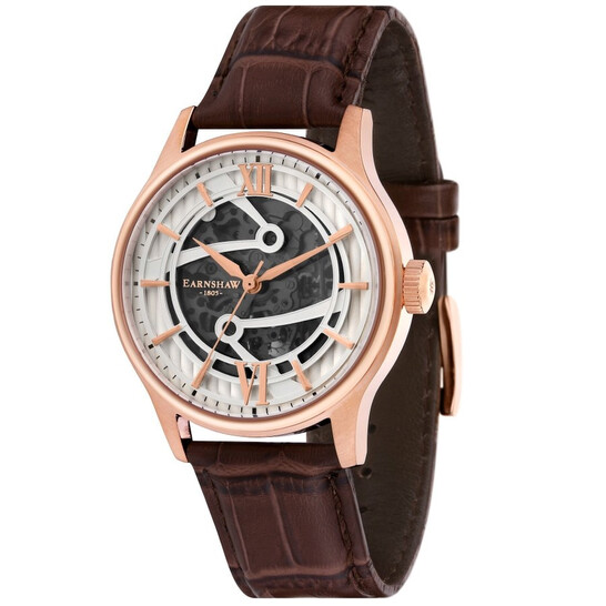Thomas Earnshaw Bauer Automatic White Dial Men's Watch ES-8801-02   Joma Shop