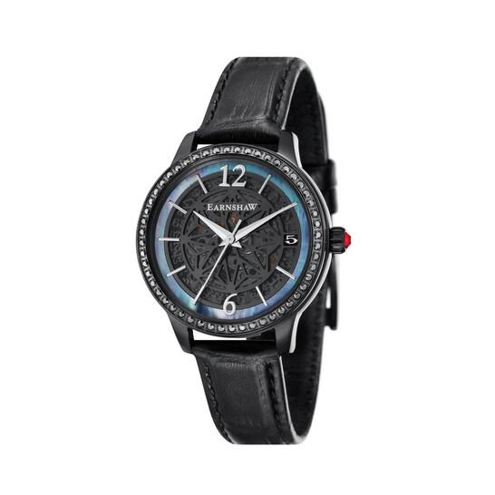 Thomas Earnshaw Lady Kew Automatic Black Dial Ladies Watch ES-8064-03 | Joma Shop