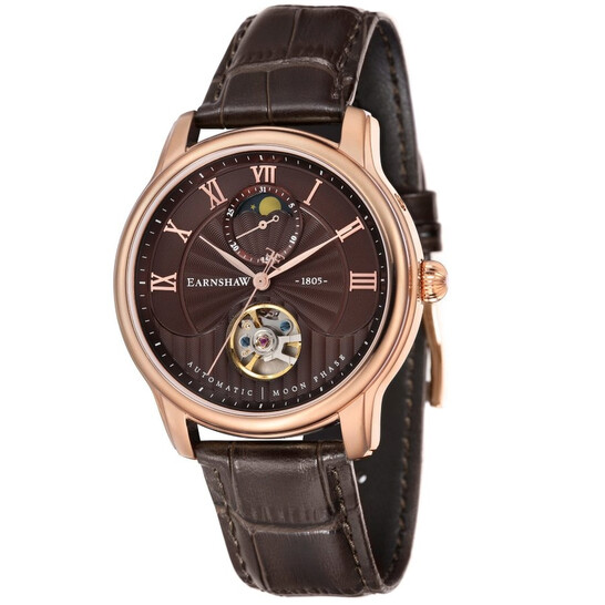Thomas Earnshaw Longitude Moonphase Automatic Brown Dial Men's Watch ES-8066-04   Joma Shop