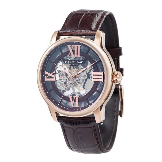 Thomas Earnshaw Longitude Skeleton Mechanical Brown Dial Men's Watch ES-8062-02 | Joma Shop