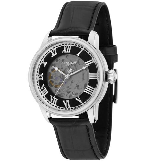 Thomas Earnshaw Precisto Longitude Alta Skeleton Automatic Black Dial Men's Watch ES-8808-01   Joma Shop