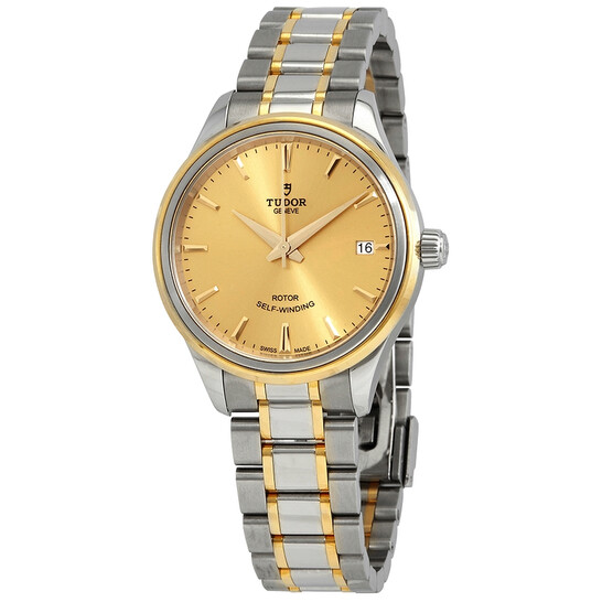 Tudor Style Automatic Champagne Dial Steel and Yellow Gold Unisex Watch M12303-0001 | Joma Shop