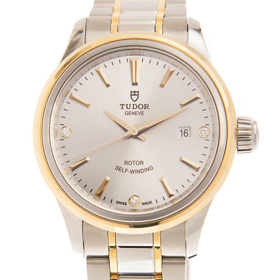 Tudor Style Automatic Champagne Dial Ladies Watch 12103-0005 | Joma Shop
