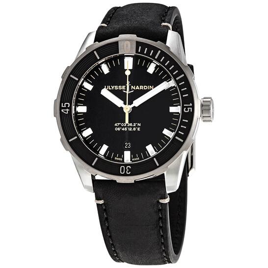 Ulysse Nardin Diver Automatic Black Dial Men's Watch 8163-175/92 | Joma Shop