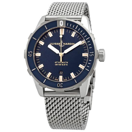 Ulysse Nardin Diver Automatic Blue Dial Men's Watch 8163-175-7MIL/93 | Joma Shop