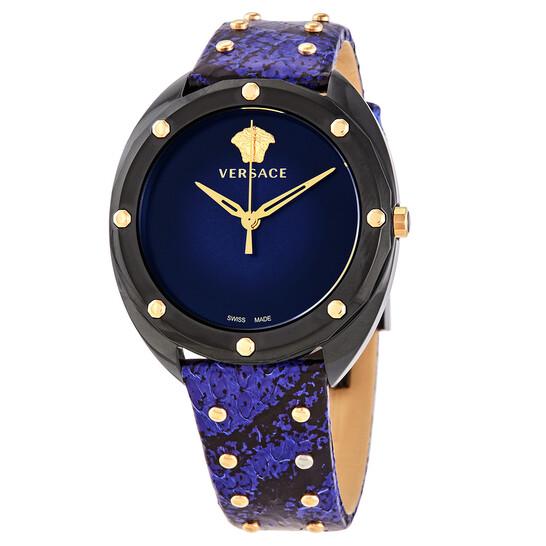 Versace Shadov Quartz Black Dial Ladies Watch (VEBM00418)