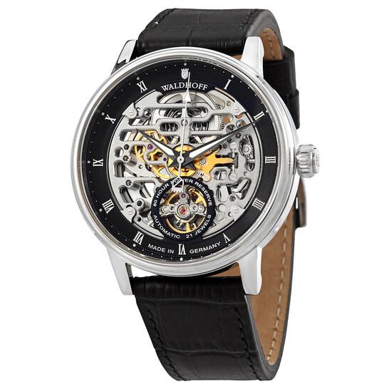 Waldhoff Capital Black Dial Black Leather Men's Watch 06C | Joma Shop