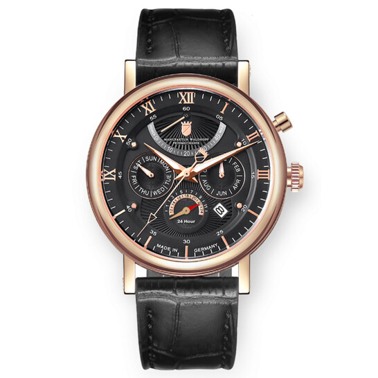 Waldhoff Multimatic Rose Gold Obsidian Black Automatic Black Dial Men's Watch 03D | Joma Shop