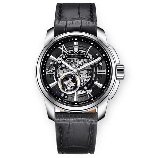 Waldhoff Republic Automatic Black Dial Men's Watch 04C   Joma Shop