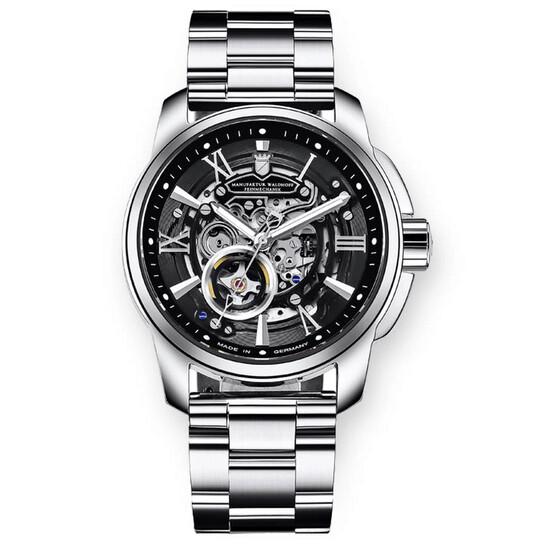 Waldhoff Republic Automatic Black Dial Men's Watch MWF-04-SS-02-WBK-3L | Joma Shop