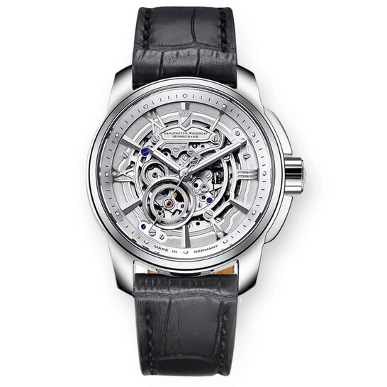 Waldhoff Republic Automatic Silver Skeleton Dial Men's Watch 04A | Joma Shop