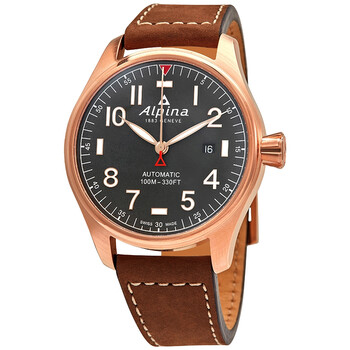 Deals on Alpina Startimer Shadow Line Automatic Grey Dial Mens Watch