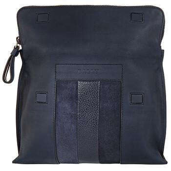 발리 Bally Benjy Navy Leather Clutch Bag