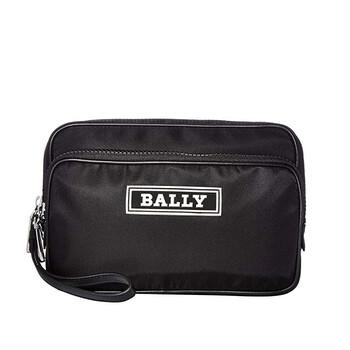 발리 Bally Black Nylon Enton Clutch Bag
