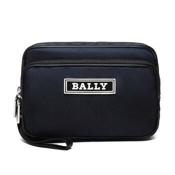 발리 Bally Blue Nylon Enton Clutch Bag