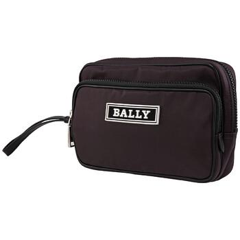 발리 Bally Enton Nylon Clutch Bag In Prune