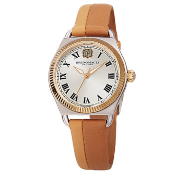 브루노 말리 시계 Bruno Magli LUCIA 1341 Quartz White Dial Ladies Watch 27.191341.SF