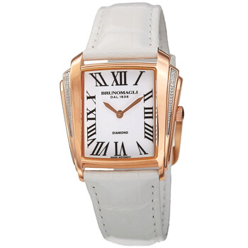브루노 말리 시계 Bruno Magli Vera 1461 Quartz White Dial Ladies Watch 33.201461.RY