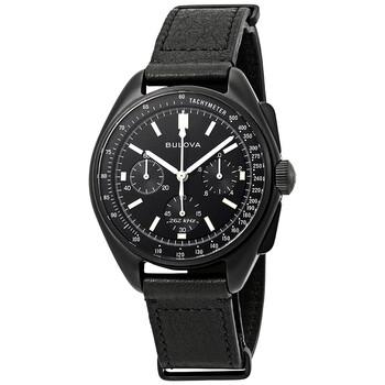 부로바 시계 Bulova Special Edition Lunar Pilot Chronograph Black Dial Mens Watch 98A186