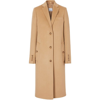 Burberry Brown Single Breasted Tailored Coat, Brand Size 4