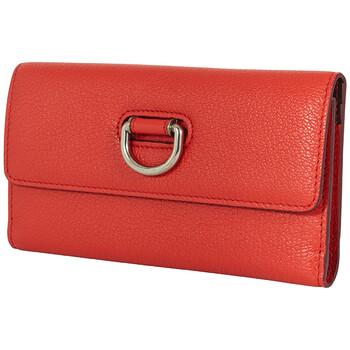버버리 Burberry D Ring Bright Red Foldover Continental Wallet