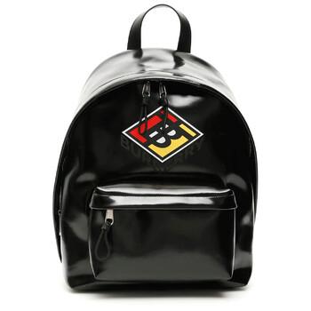 버버리 백팩 Burberry Graphic Logo Coated Canvas Backpack-Black