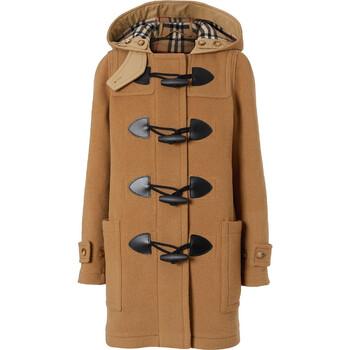 Burberry Ladies Beige Hooded Duffle Coat, Brand Size 6