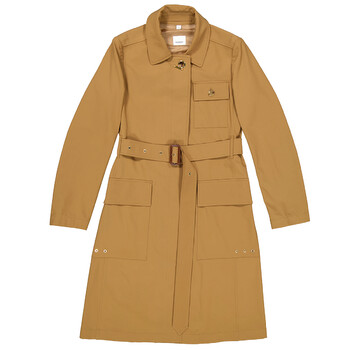 Burberry Ladies Technical Twill Coat, Brand Size 4