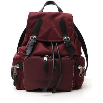 버버리 백팩 Burberry Red Medium Rucksack In Logo Print Econyl