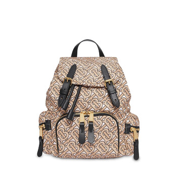 Deals on Burberry Fabric and Leather Rucksack 8017168