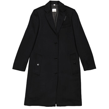 Burberry Wool Cashmere Tailored Coat, Brand Size 4