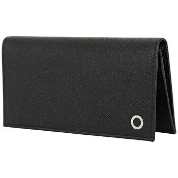 Bvlgari Bifold Black Hammered Leather Yen Wallet