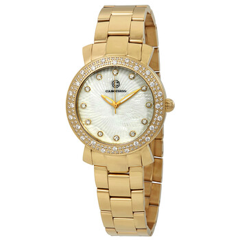 Deals on Cabochon Carmel Crystal Ladies Watch